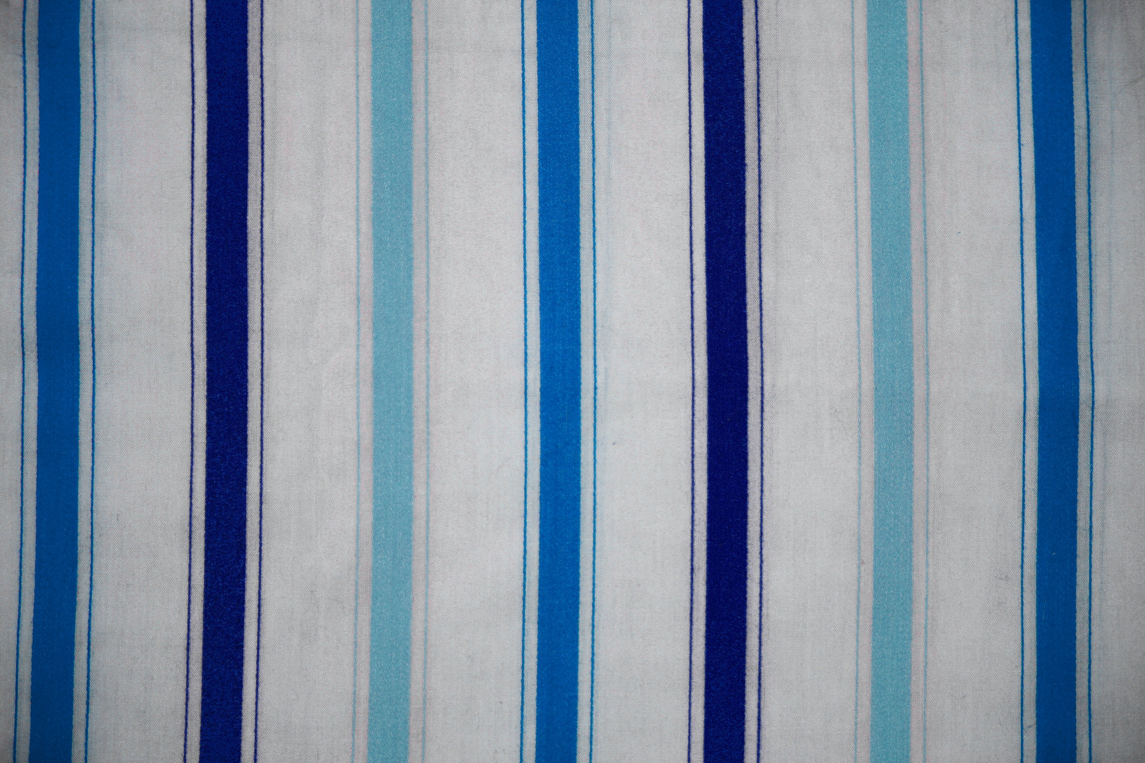 Striped Fabric Texture Blue On White