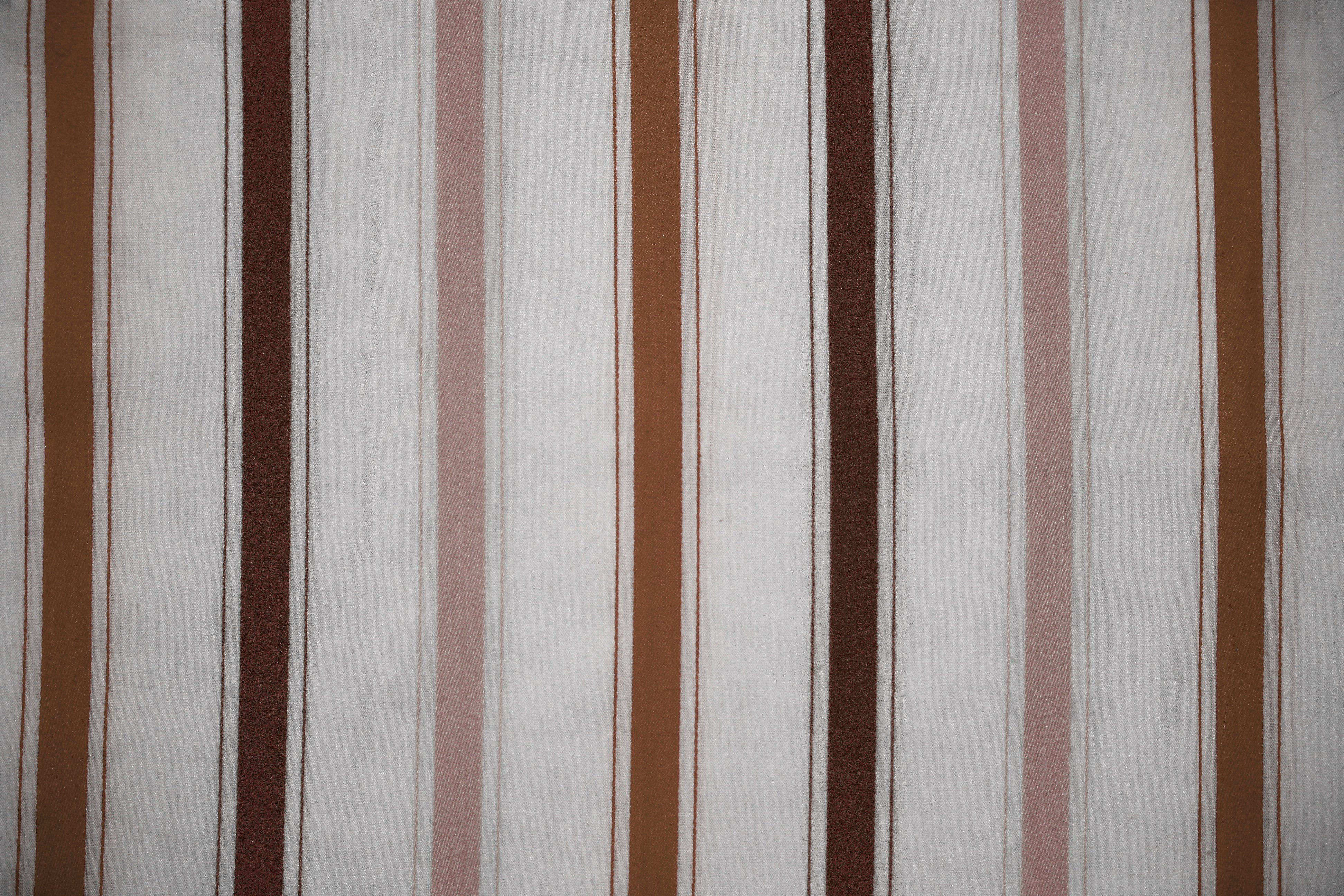 Striped Fabric Texture Brown On White Picture Free