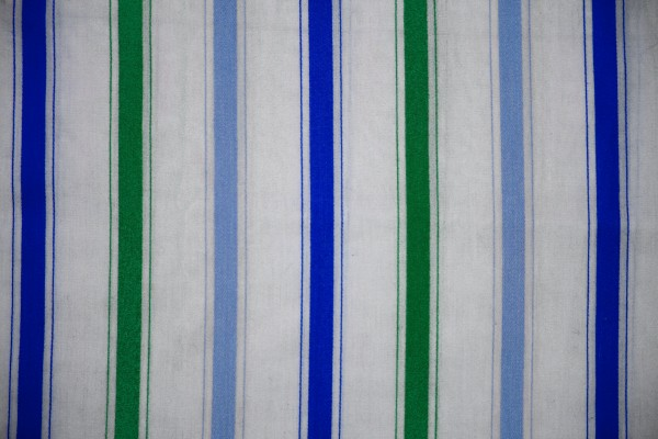 Stripe Blue Green And White: Striped Fabric Texture Green And Blue On White Picture