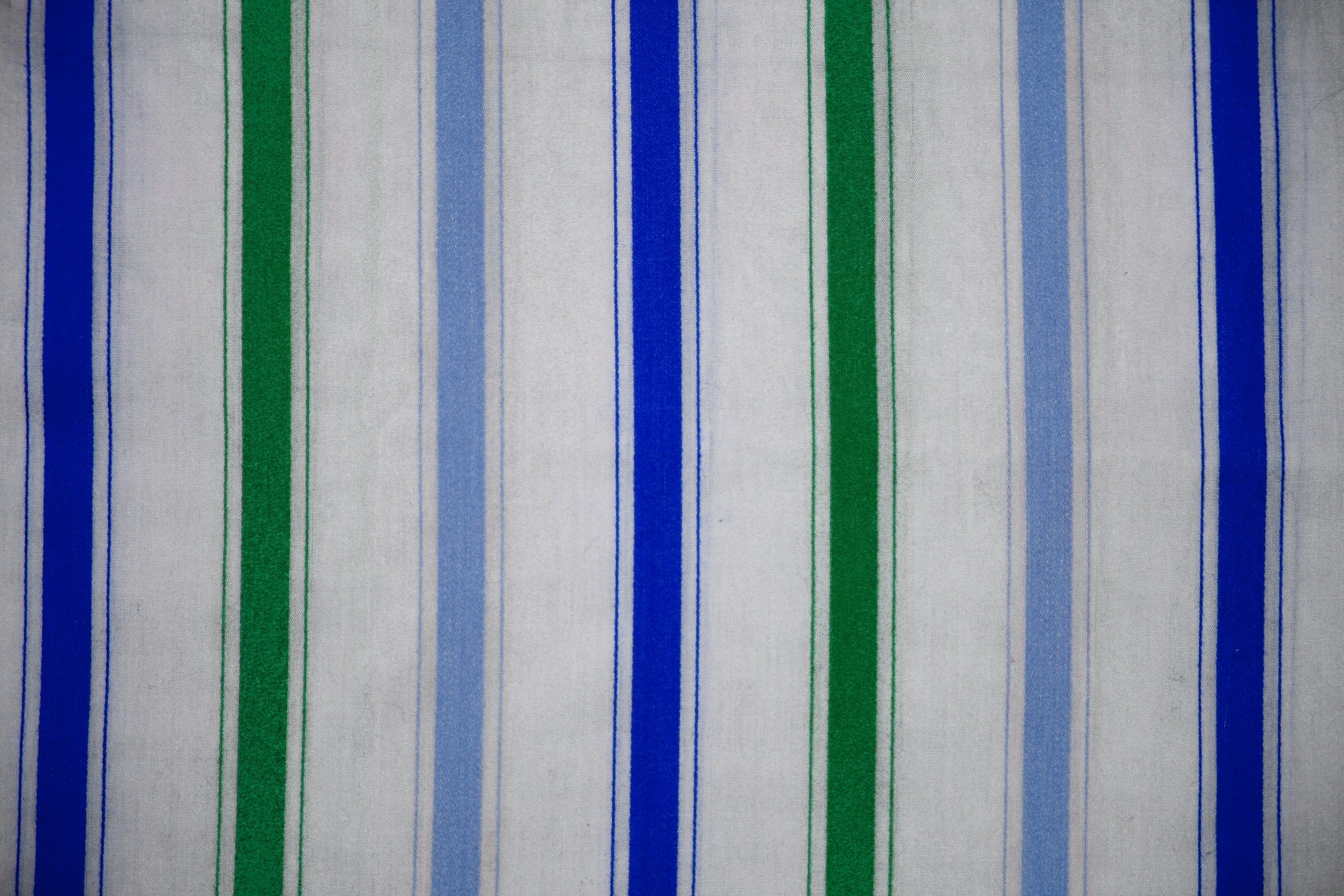 Stripe Blue Green And White: Striped Fabric Texture Green And Blue On White