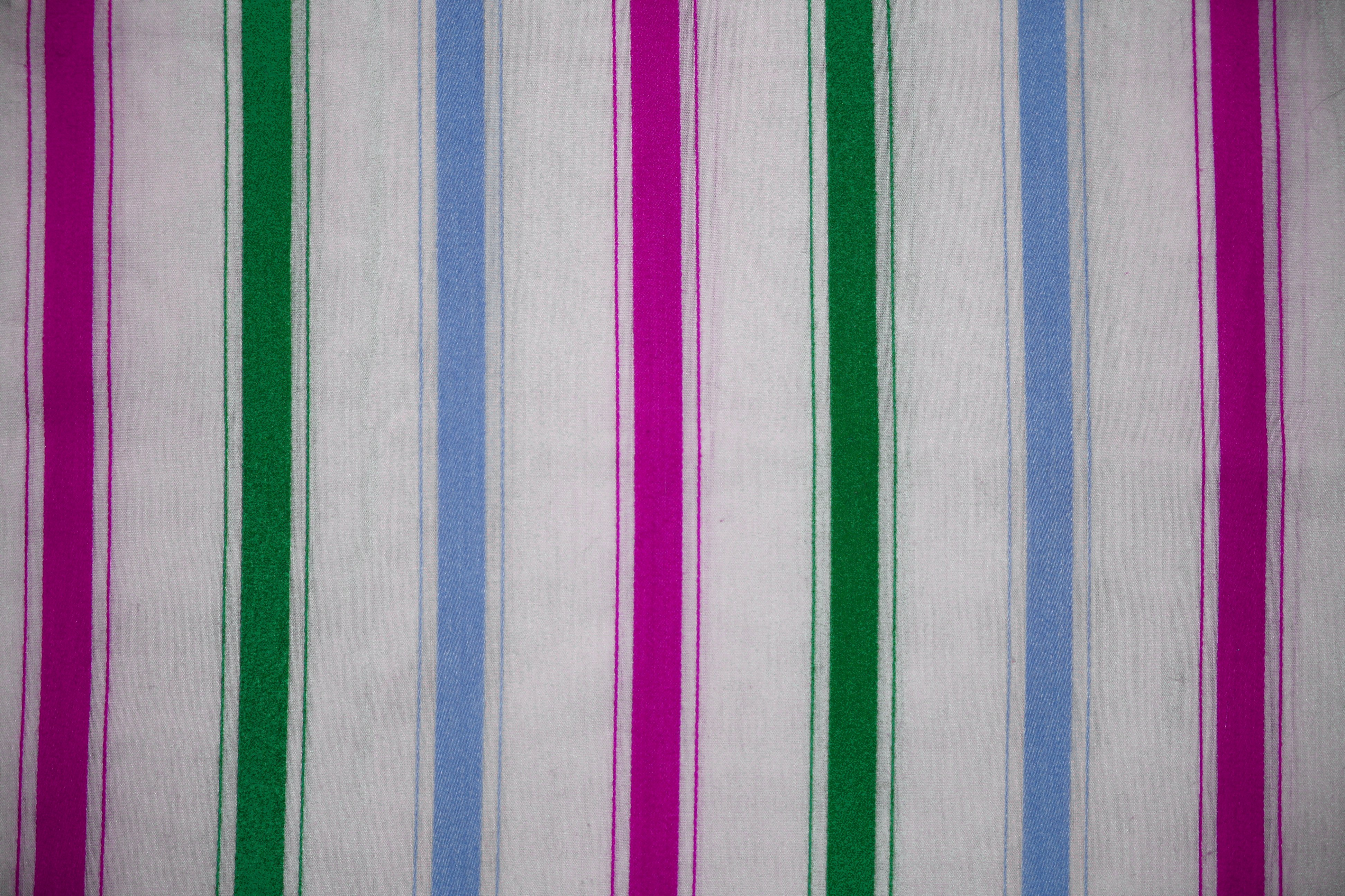 Striped Fabric Texture Green Blue And Pink On White