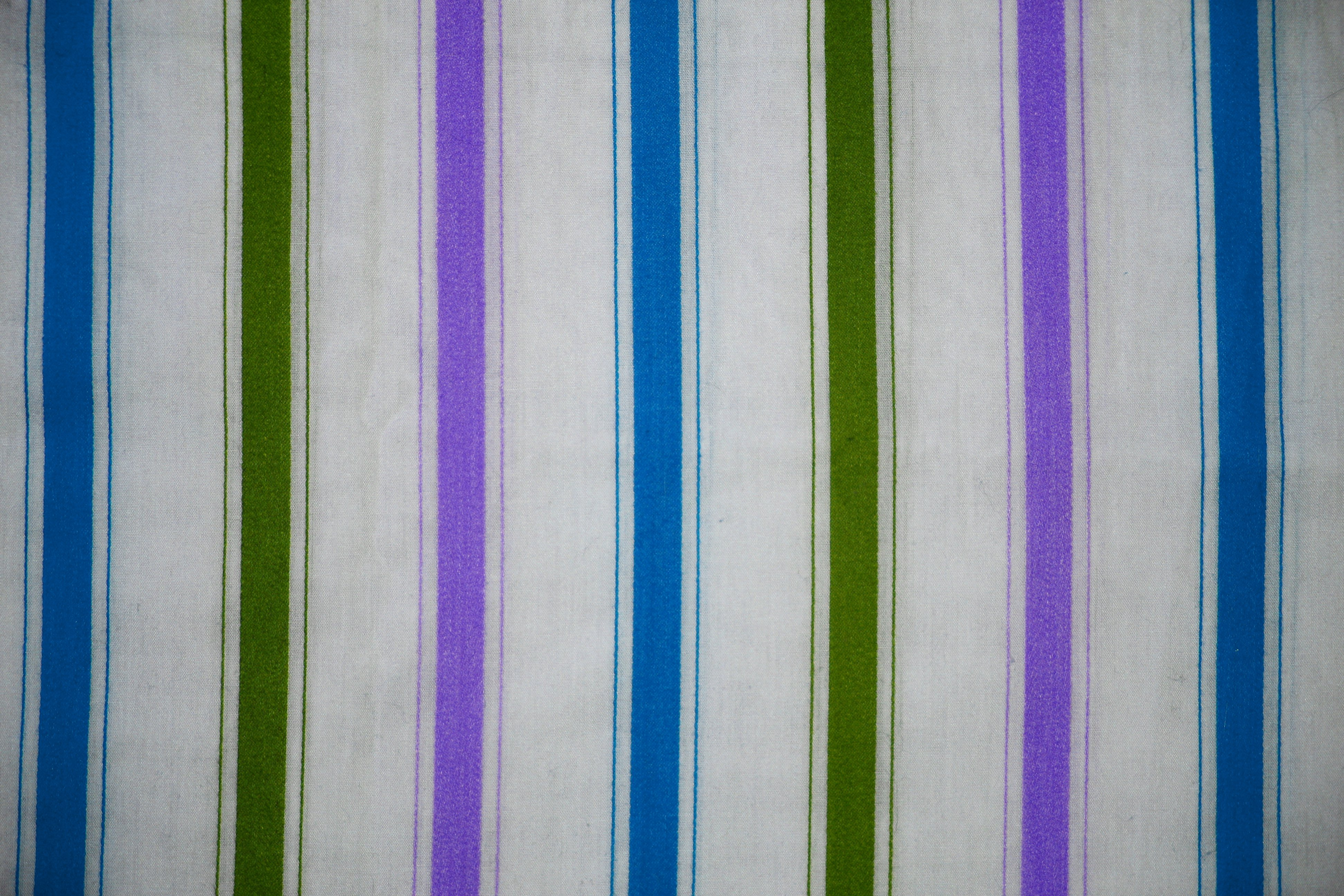 Striped Fabric Texture Green Blue And Purple On White