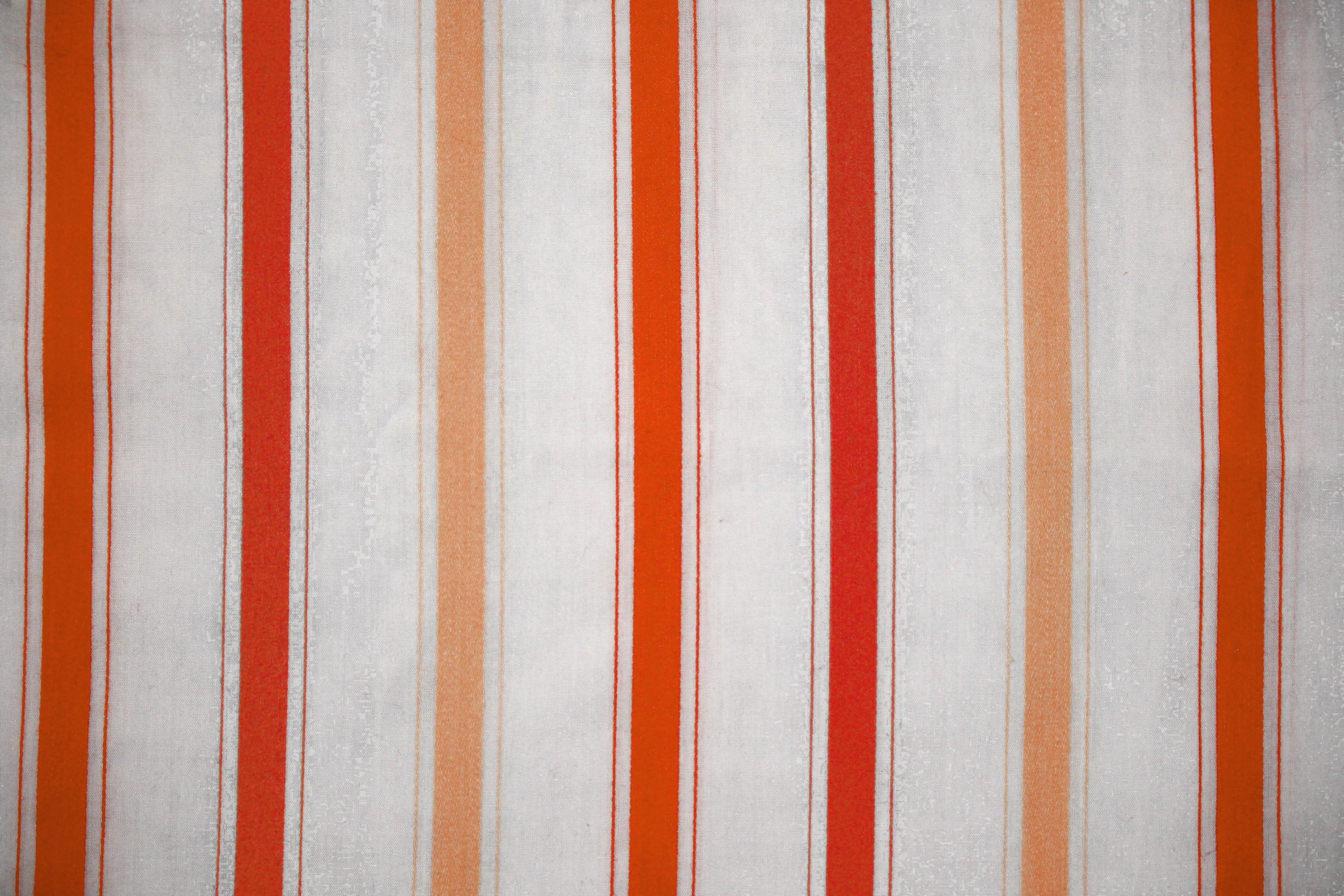 Striped Fabric Texture Orange On White Picture Free