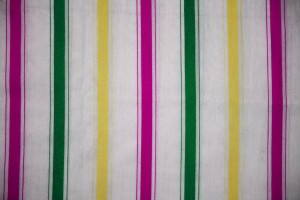 Striped Fabric Texture Pink, Green and Yellow on White - Free High Resolution Photo