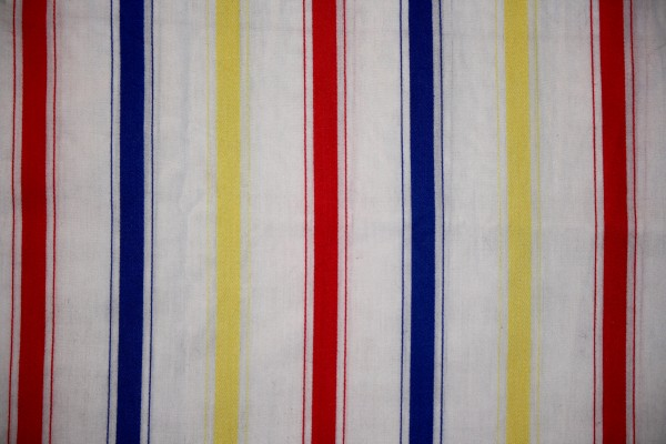 Striped Fabric Texture Red, Blue and Yellow on White - Free High Resolution Photo