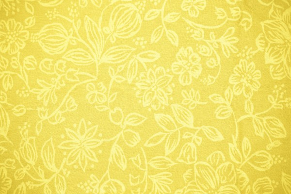 Yellow Fabric with Floral Pattern Texture - Free High Resolution Photo