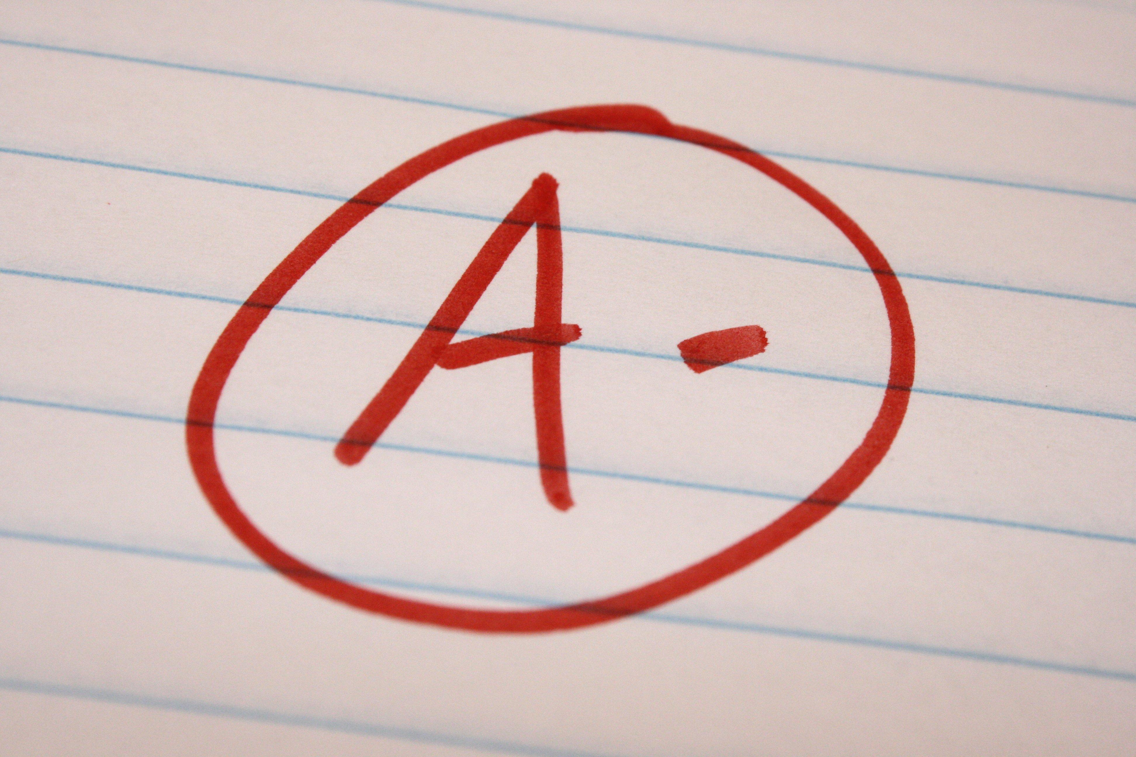 School Letter Grades a Minus School Letter Grade