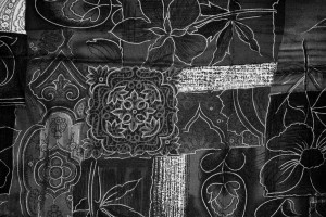 Black and White Patchwork Fabric Texture - Free High Resolution Photo