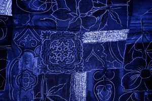 Blue Patchwork Fabric Texture - Free High Resolution Photo