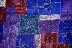 Blue, Red and Purple Patchwork Fabric Texture - Free High Resolution Photo