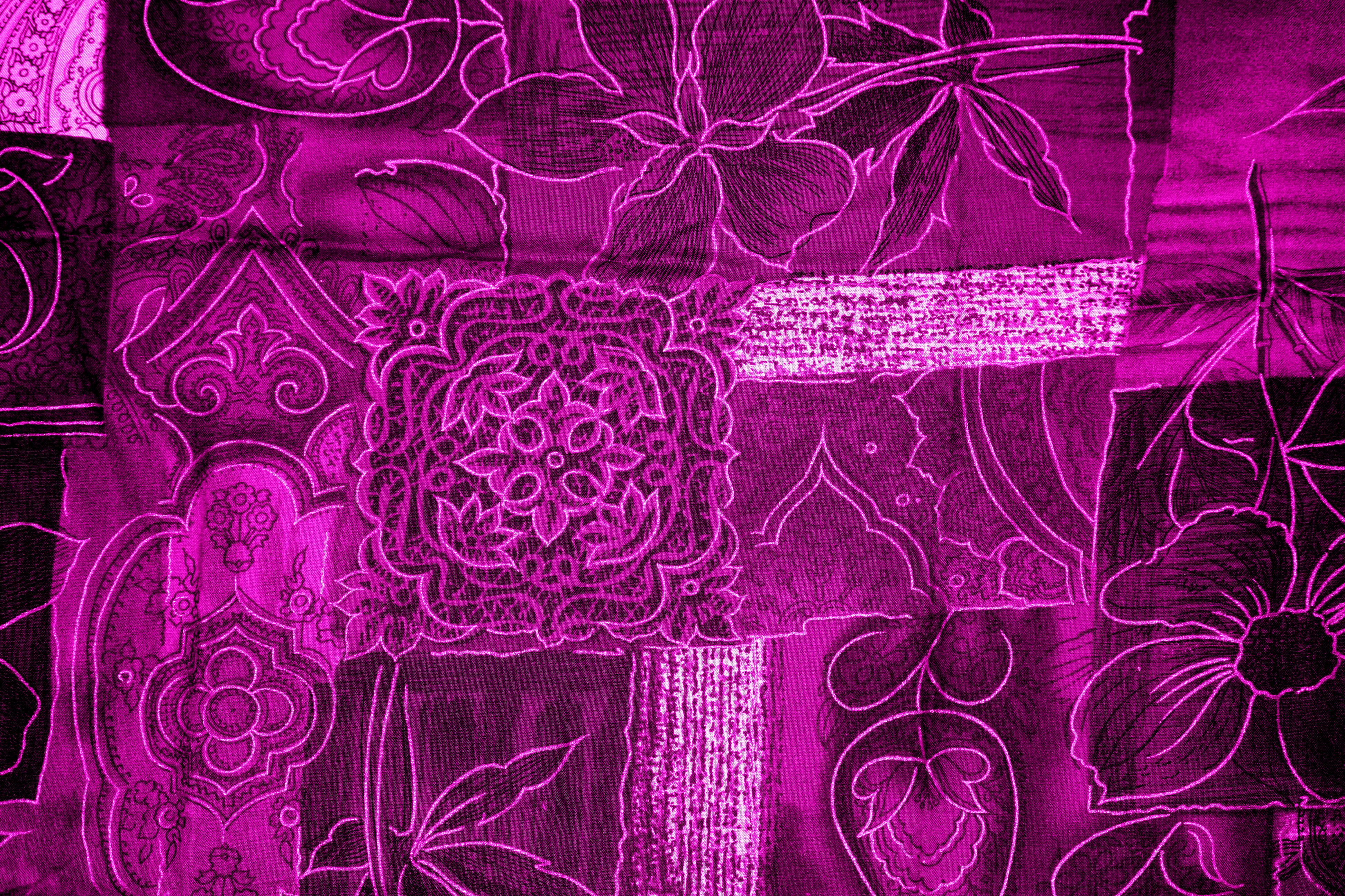 Pink fabric texture free high resolution photo dimensions 3888 - Hot Pink Patchwork Fabric Texture