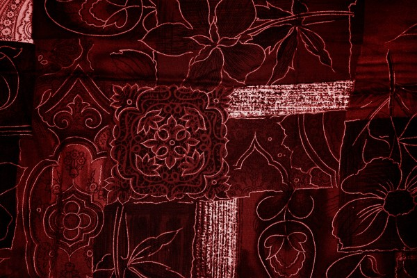 Maroon Patchwork Fabric Texture - Free High Resolution Photo