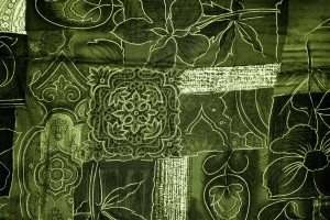 Olive Green Patchwork Fabric Texture - Free High Resolution Photo