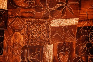 Orange Patchwork Fabric Texture - Free High Resolution Photo