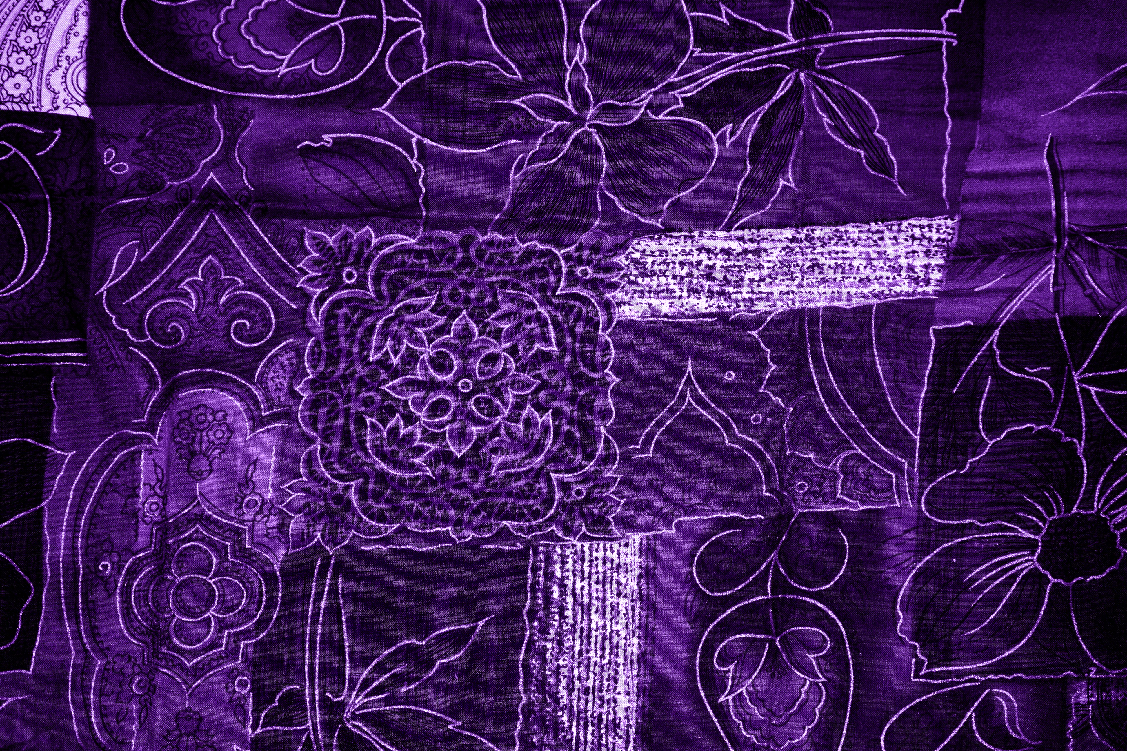 Purple Patchwork Fabric Texture Picture | Free Photograph | Photos ...