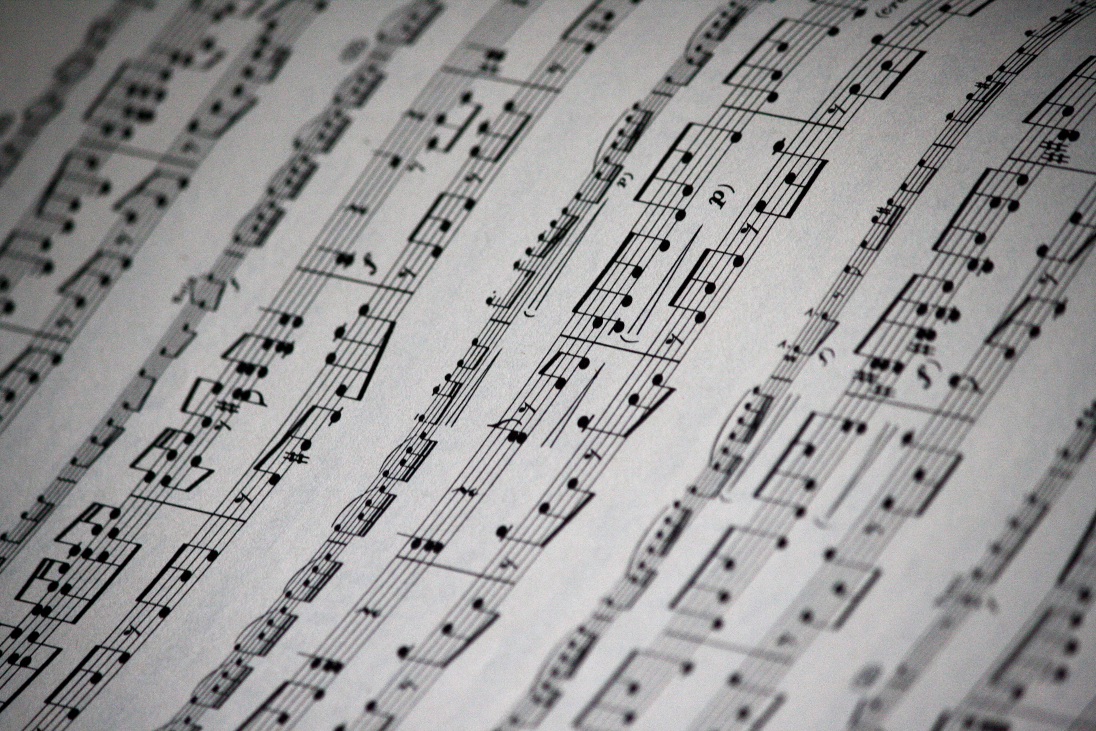 Sheet Music Texture Picture | Free Photograph | Photos