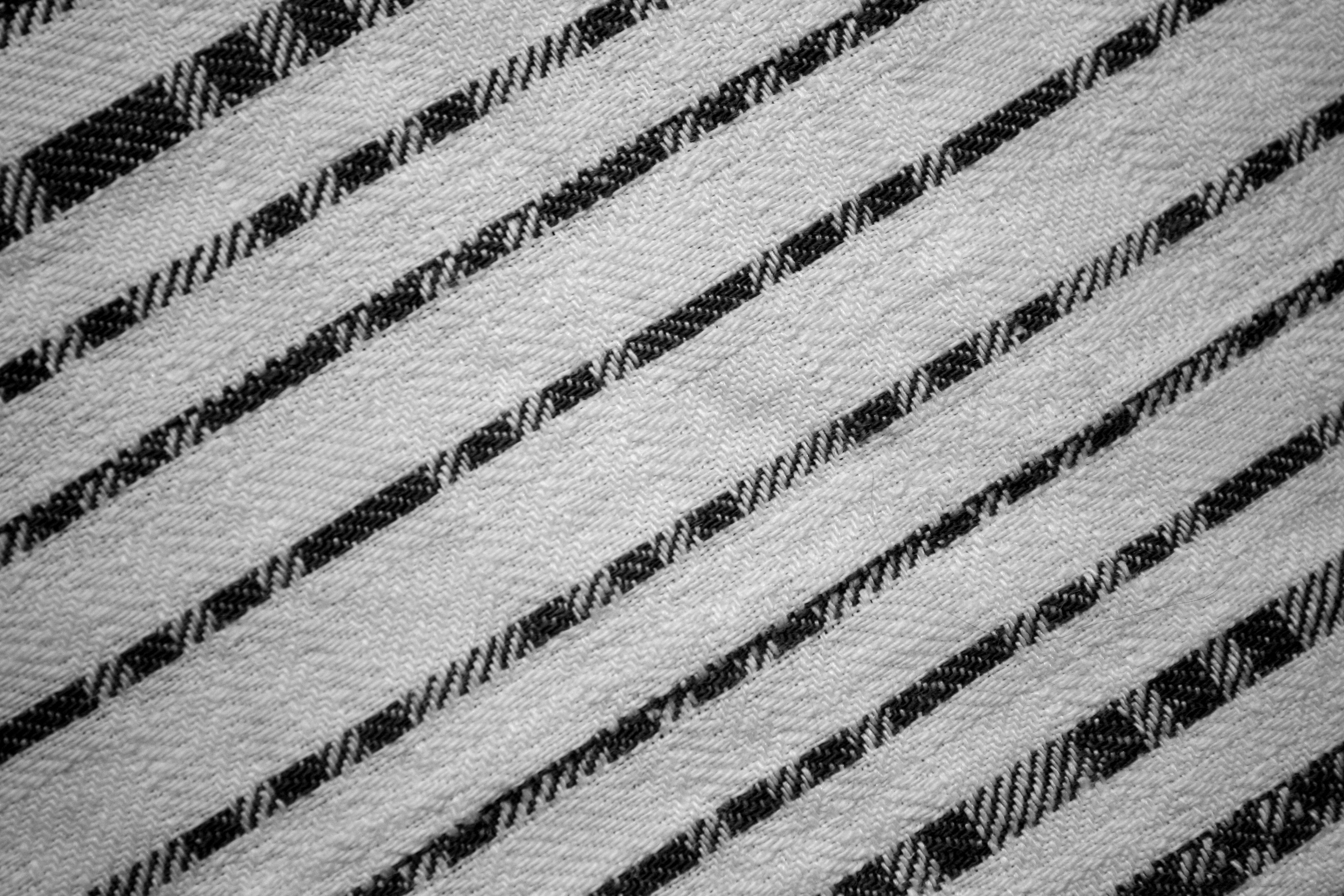 Black On White Diagonal Stripes Fabric Texture Picture