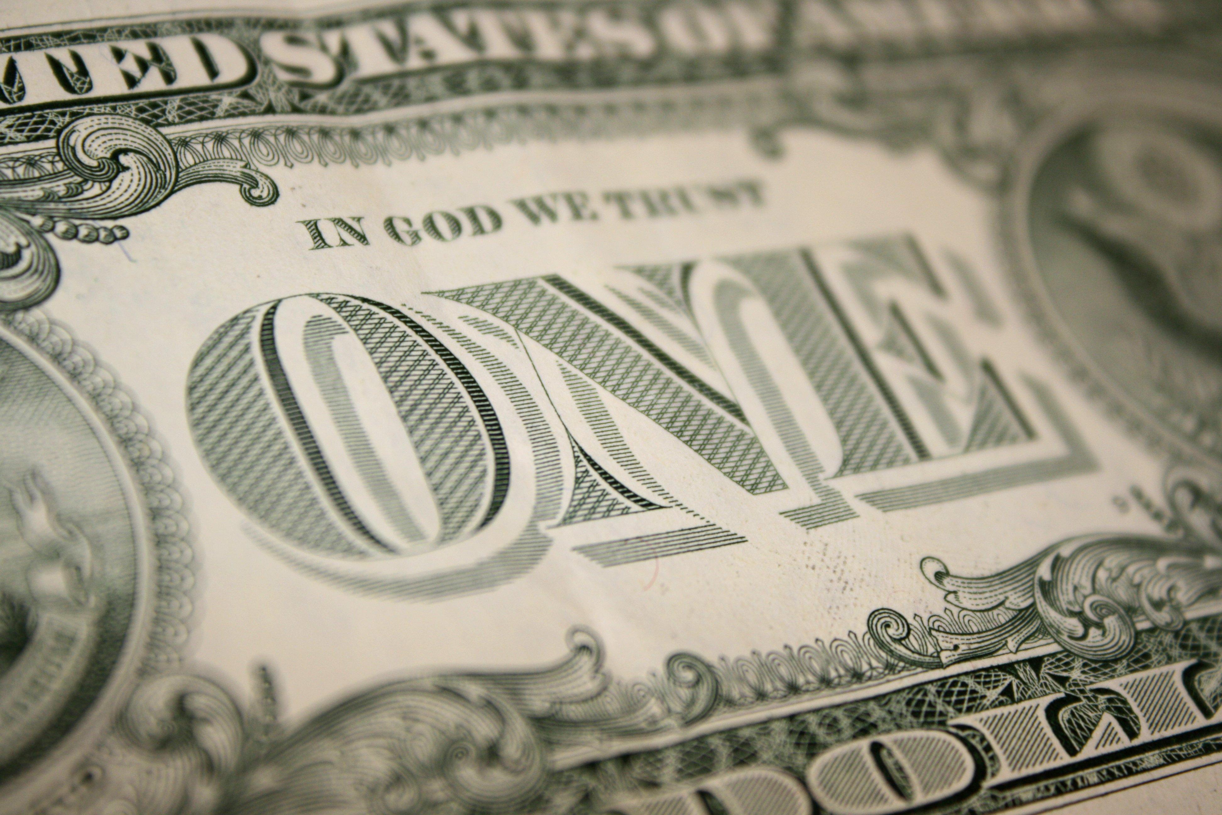 One Dollar Bill Back Close Up