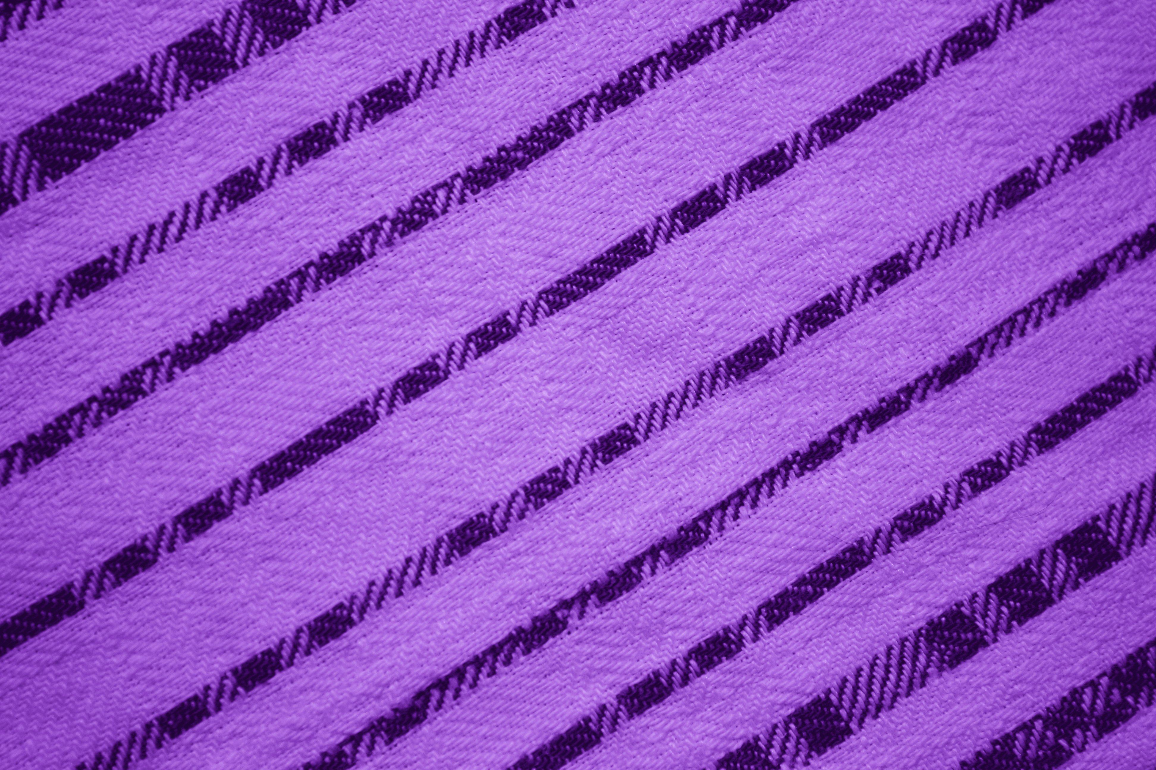 Purple Diagonal Stripes Fabric Texture Picture Free