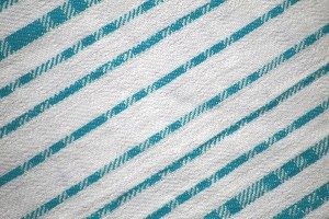 Teal on White Diagonal Stripes Fabric Texture - Free High Resolution Photo