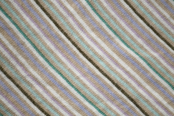 Diagonally Striped Knit Fabric Texture - Tan, Green and Blue - Free High resolution photo
