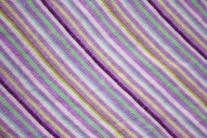 Diagonally Striped Knit Fabric Texture - Violet, Green and Yellow - Free High Resolution Photo