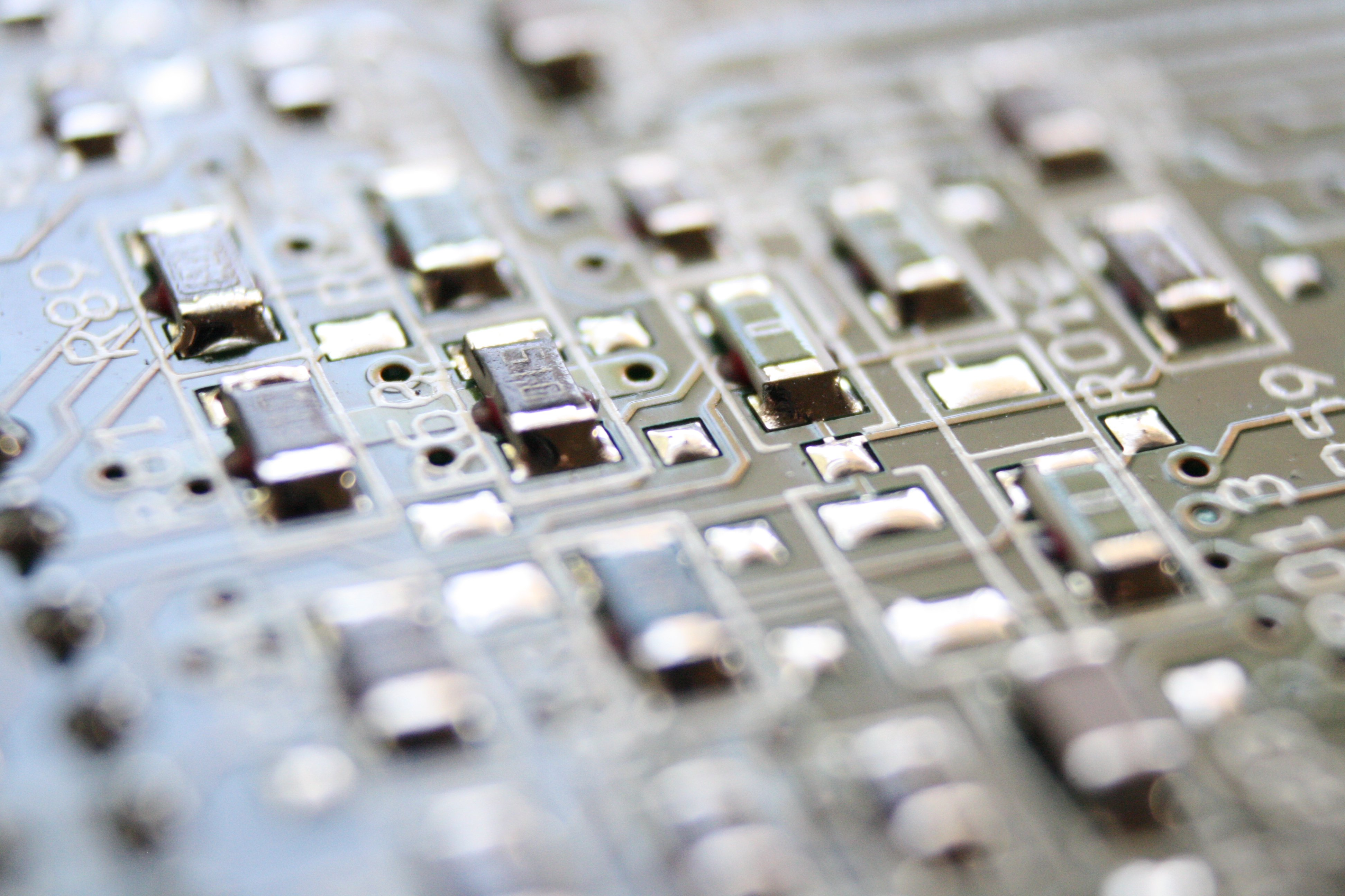 Integrated Circuit Board Macro Picture Free Photograph