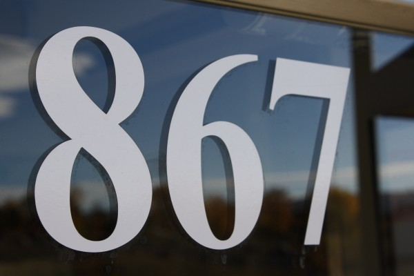 867 - Photo of the Address Number 867 on a Shop Door - Free High Resolution Photo