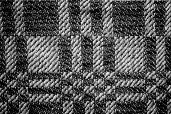 Black and White Woven Fabric Texture with Squares Pattern - Free High Resolution Photo