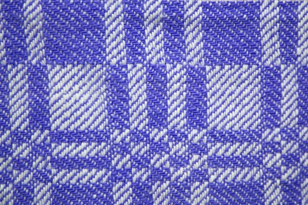 Blue and White Woven Fabric Texture with Squares Pattern - Free High Resolution Photo