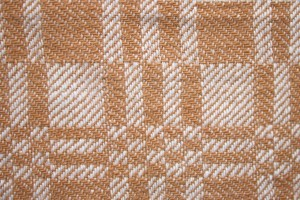 Brown and White Woven Fabric Texture with Squares Pattern - Free High Resolution Photo