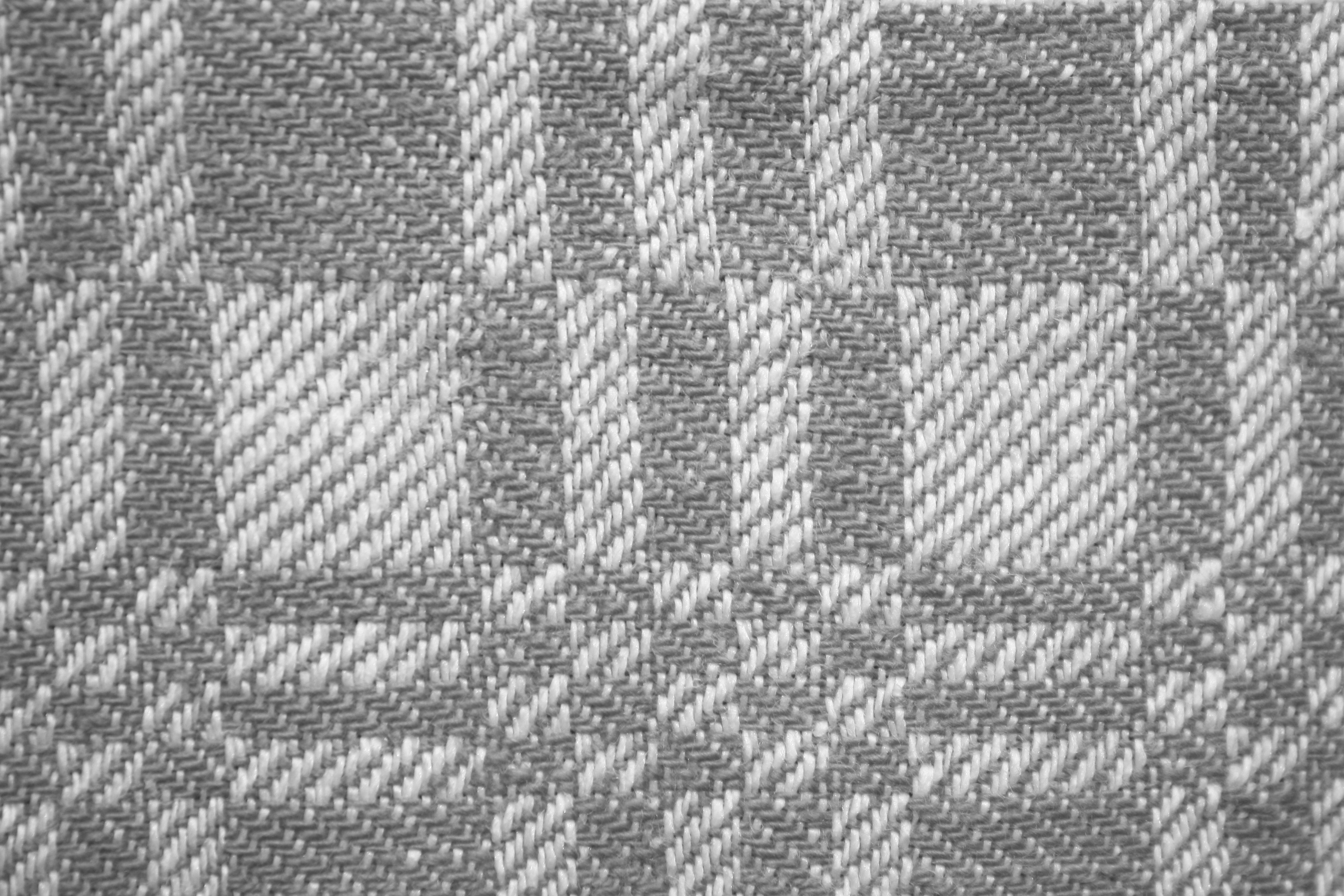 Gray And White Woven Fabric Texture With Squares Pattern