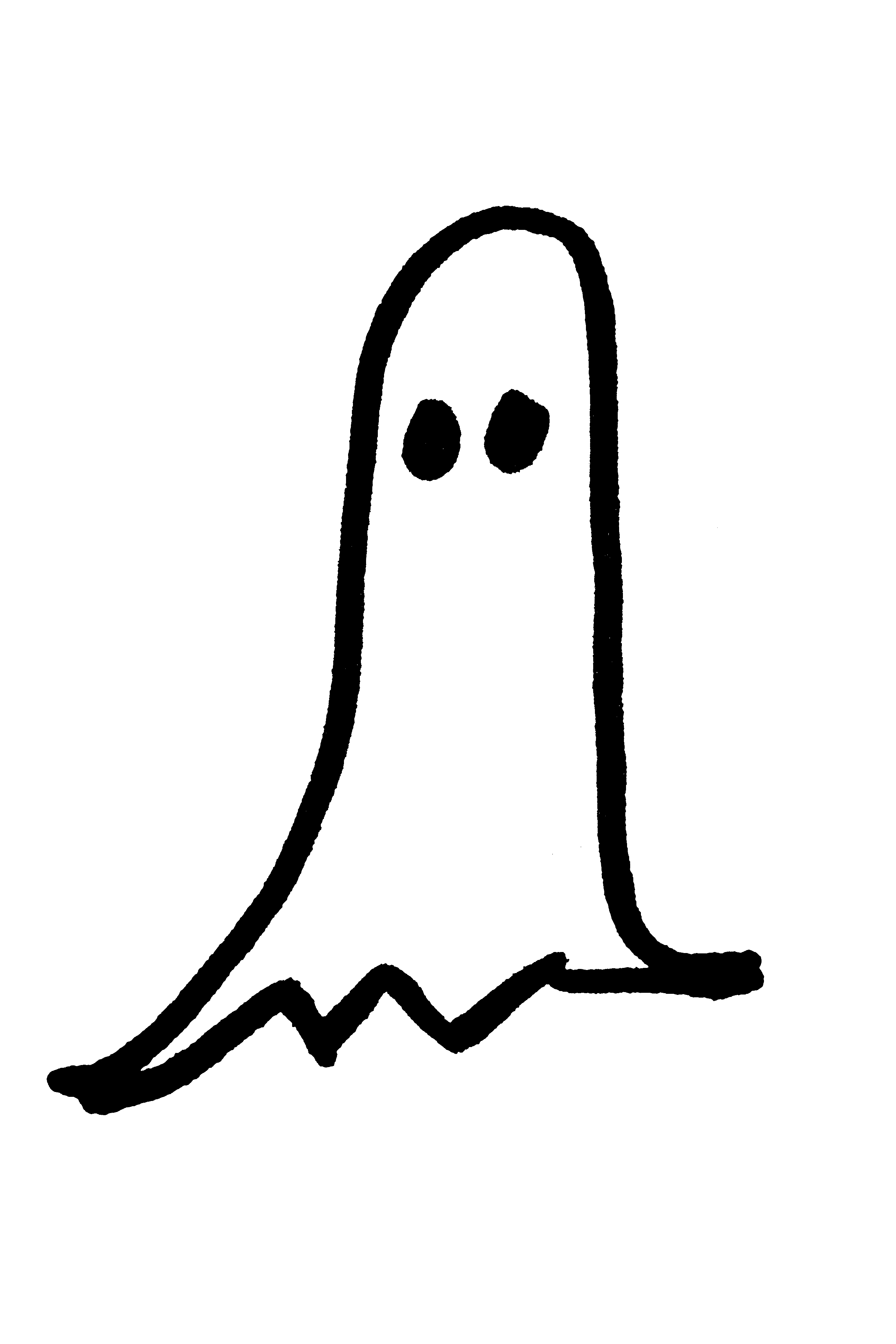 Halloween Ghost Hand Drawn Clip
