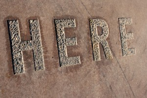 "Here - The Word ""Here"" Set in Concrete - Free High Resolution Photo"