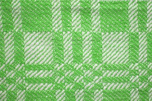 Lime Green and White Woven Fabric Texture with Squares Pattern - Free High Resolution Photo