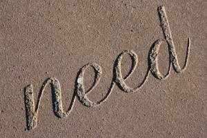 "Need – The Word ""Need"" Set in Concrete - Free High Resolution Photo"