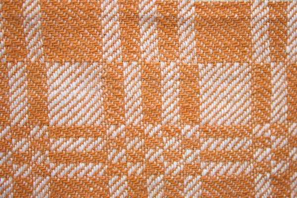 Orange and White Woven Fabric Texture with Squares Pattern - Free High Resolution Photo