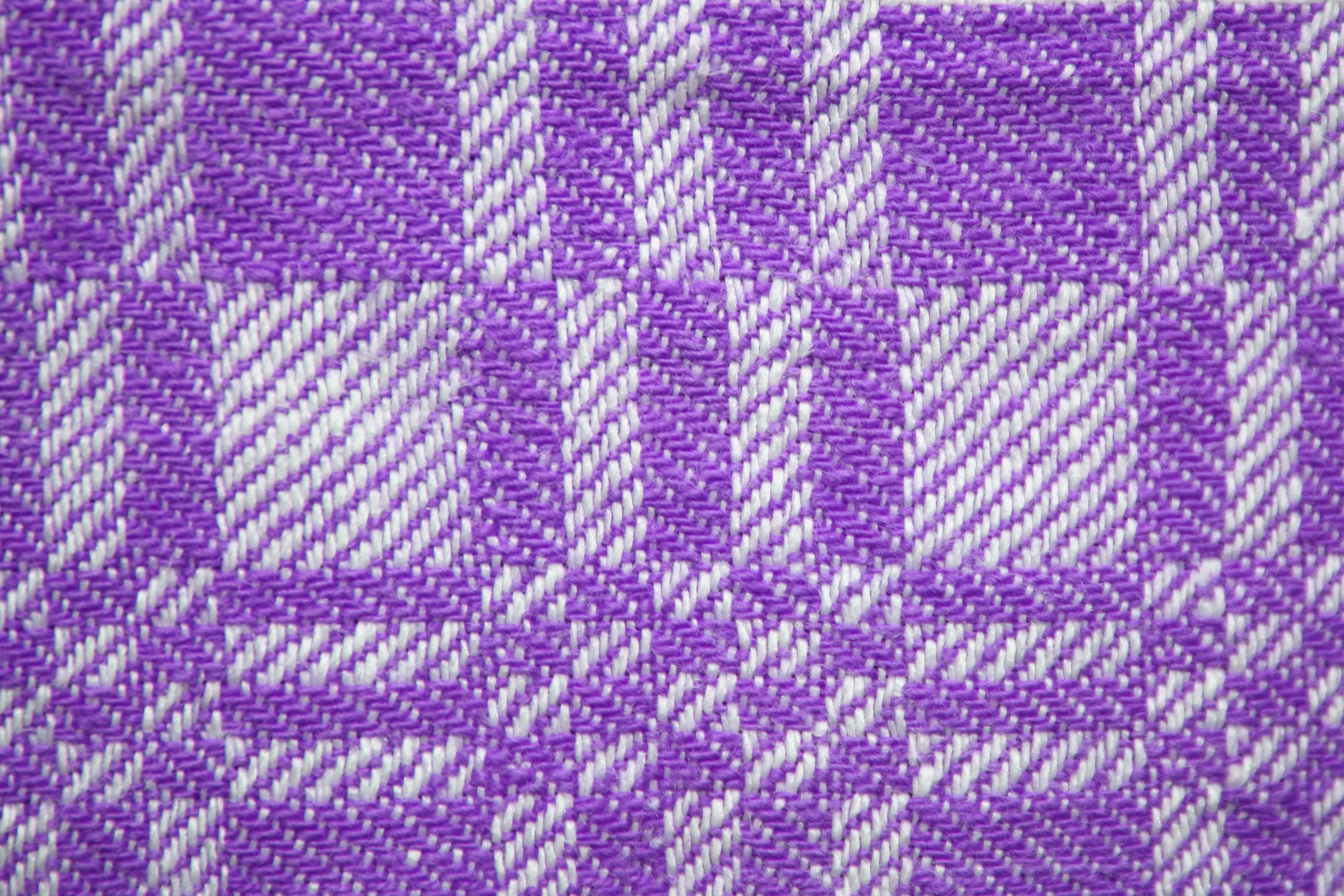 Purple And White Woven Fabric Texture With Squares Pattern