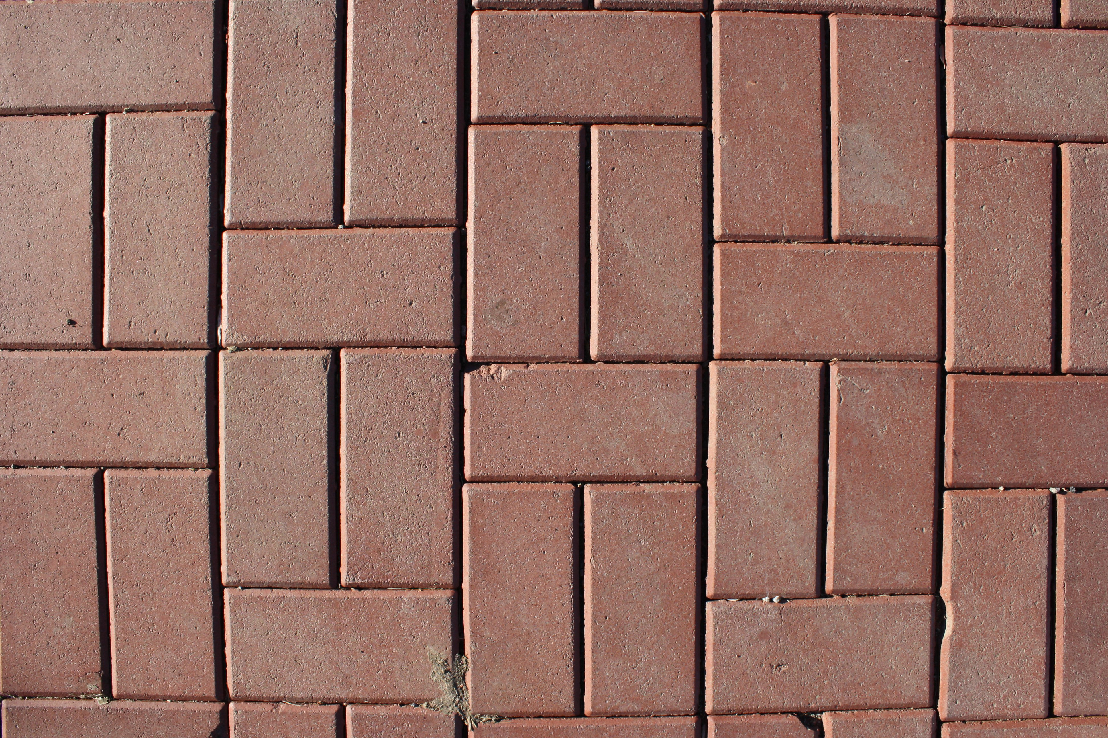Red Brick Pavers Sidewalk Texture Picture | Free Photograph ...