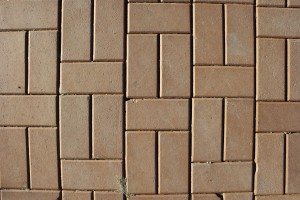 Tan Brick Pavers Sidewalk Texture - Free High Resolution Photo