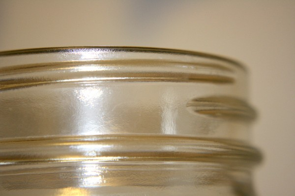 Threaded Top Section of Glass Jar - Free High Resolution Photo