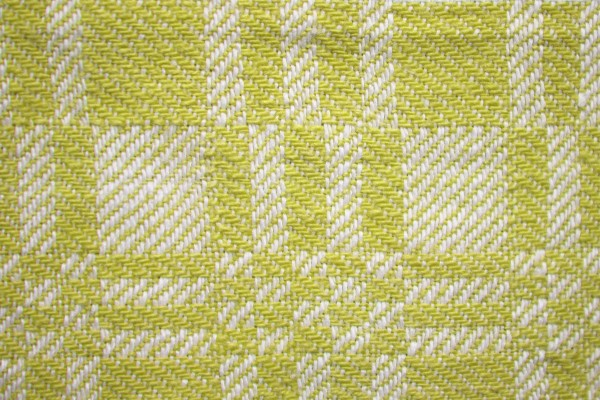 Yellow and White Woven Fabric Texture with Squares Pattern - Free High Resolution Photo