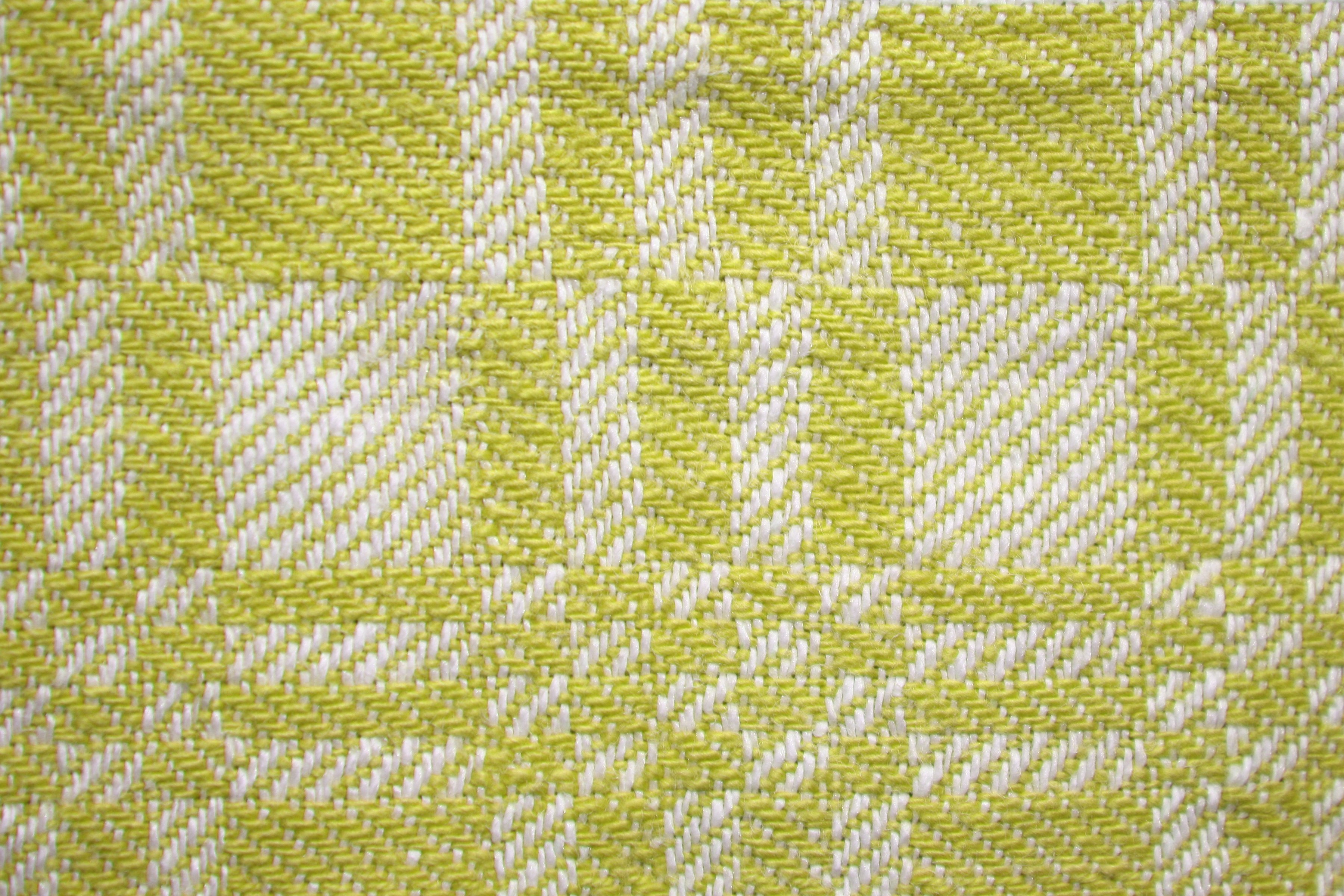 Yellow and White Woven Fabric Texture with Squares Pattern Picture ...
