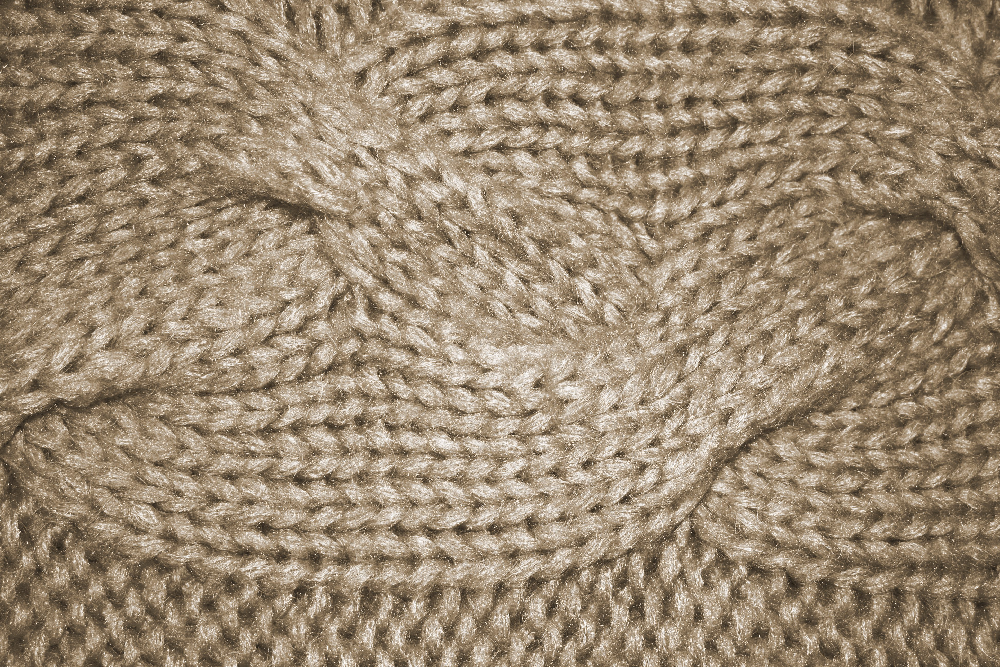How To Knit A Cable Pattern : Beige Cable Knit Pattern Texture Picture Free Photograph Photos Public Do...