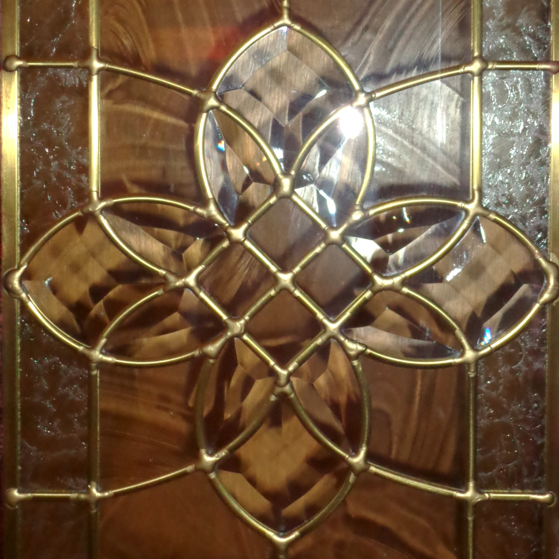 beveled stained glass decorative star panel picture free