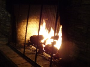 Fire in Fireplace - Free High Resolution Photo