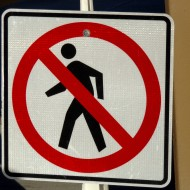 No Pedestrians Sign - Free High Resolution Photo