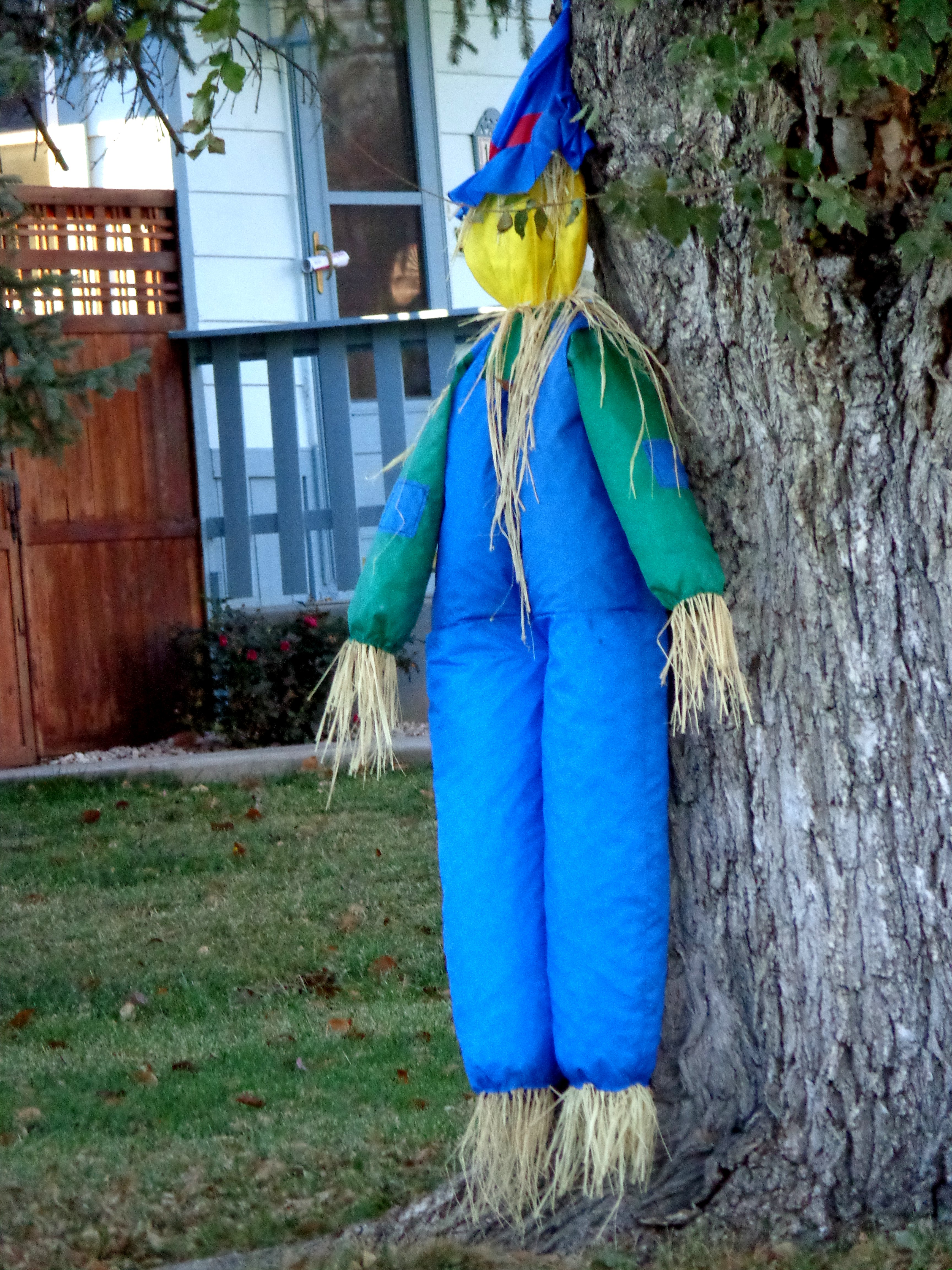Scarecrow Yard Decoration Picture Free Photograph