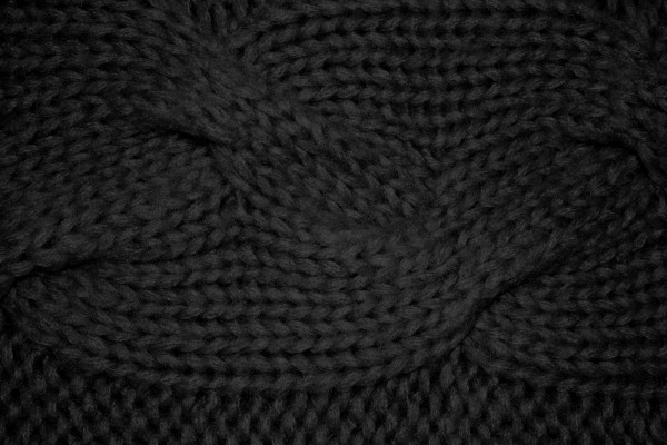 Black Cable Knit Pattern Texture - Free High Resolution Photo