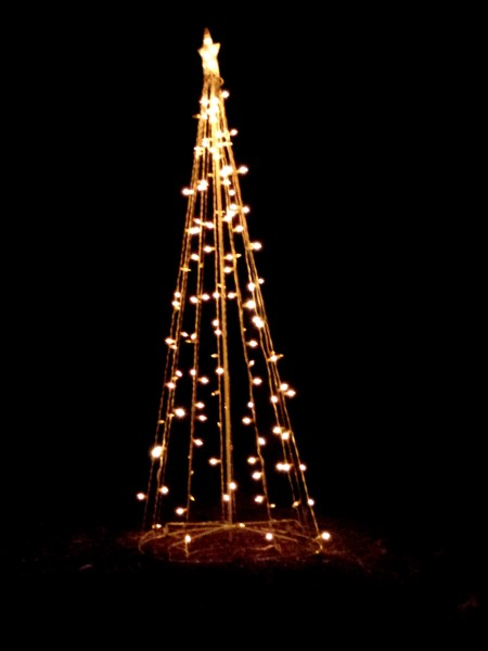 Christmas Lights Shaped like Tree Holiday Yard Decoration - Free High Resolution Photo